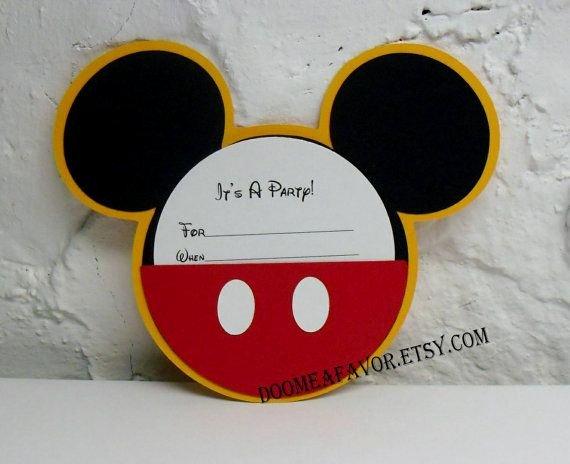Diy Mickey Mouse Birthday Invitations Luxury Mickey Mouse Pocket Invitation Diy Kit Set Of 15 by