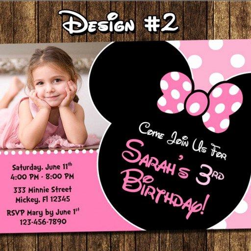 Diy Mickey Mouse Birthday Invitations New Minnie Mouse Birthday Party Invitations Mickey Diy