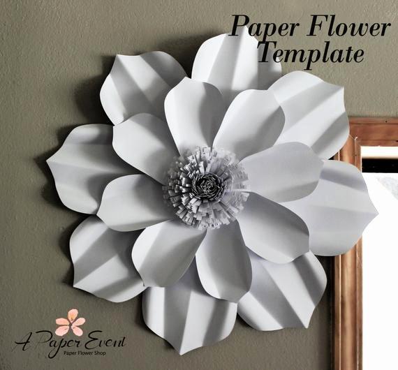 Diy Paper Flower Template Beautiful Paper Flower Template Diy Paper Flower Diy Backdrop Paper