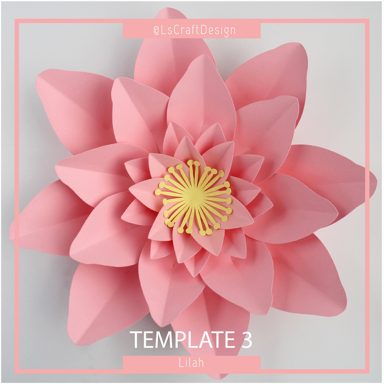 Diy Paper Flower Template Beautiful Paper Flower Template Pdf Paper Flower Paper Flower Kit Diy