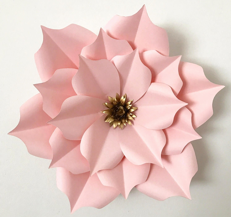 Diy Paper Flower Template Beautiful Pdf Petal 5 Paper Flower Template Digital Version