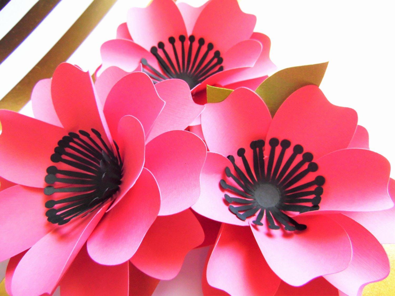 Diy Paper Flower Template Elegant Svg Paper Flower Cutting Files Diy Paper Flower Templates