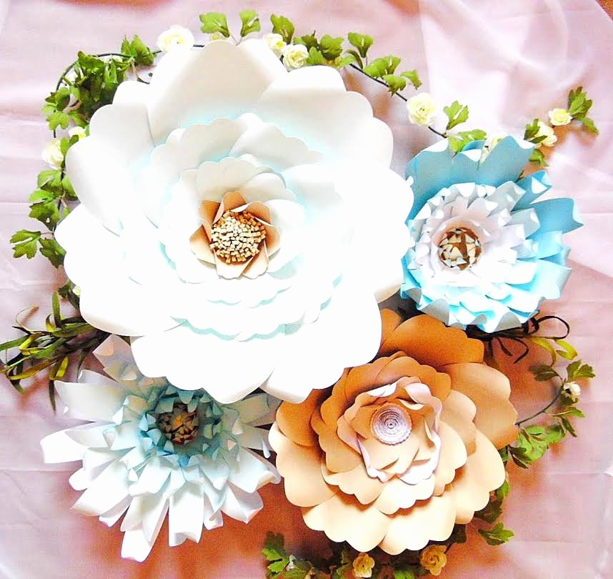 Diy Paper Flower Template Inspirational Giant Paper Flower Backdrop Templates Diy Paper Flowers Diy