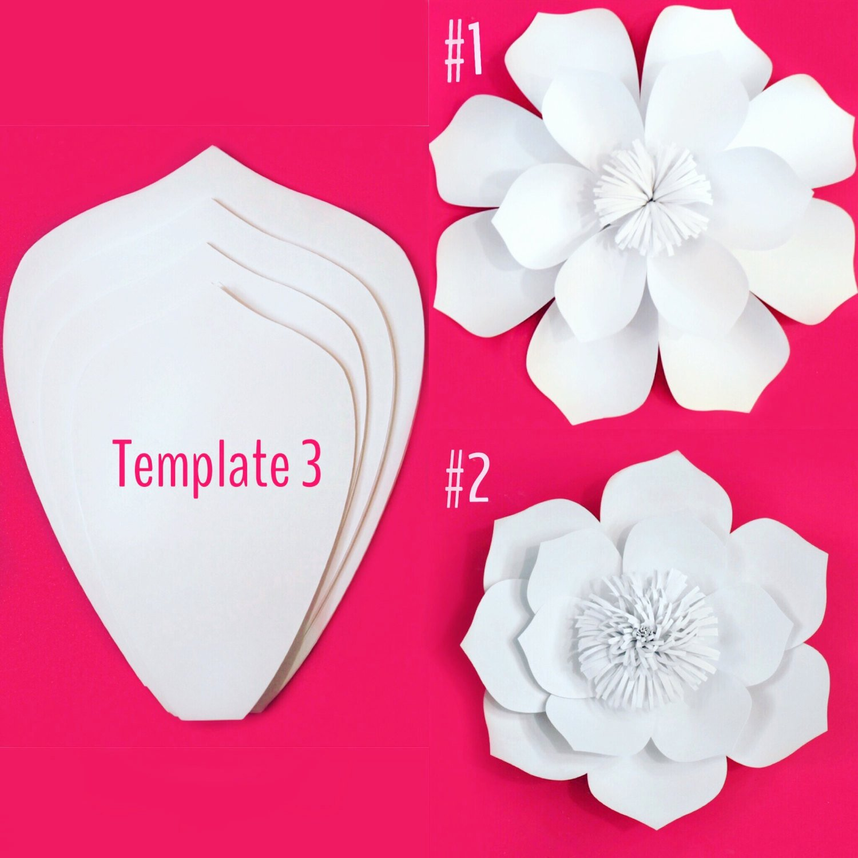 Diy Paper Flower Template Lovely Paper Flower Template Diy Kit Sale