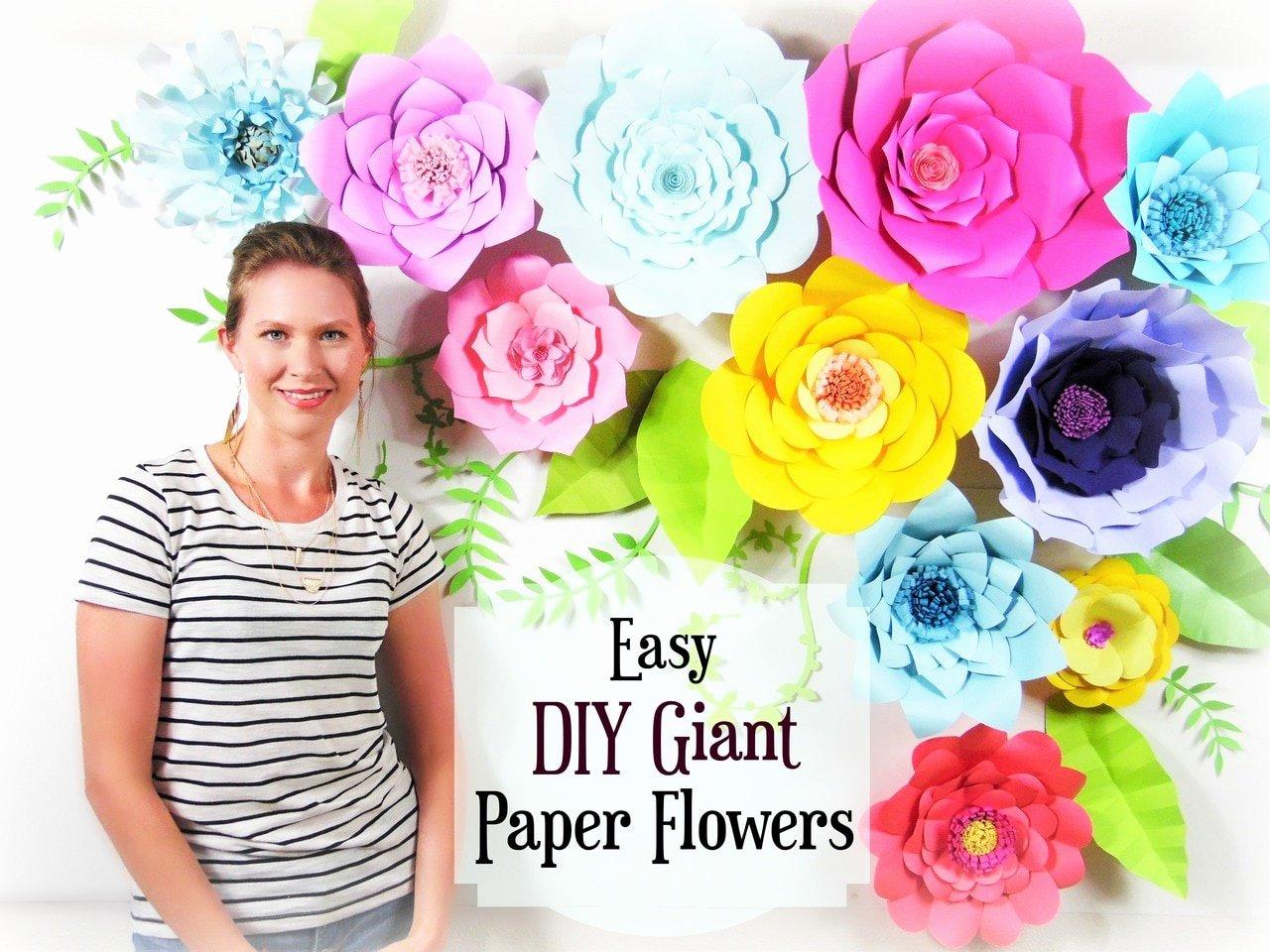 Diy Paper Flower Template Lovely Set Of 5 Giant Flower Templates Diy Paper Flower Wall