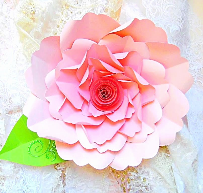 Diy Paper Flower Template Luxury Diy Paper Flower Tutorial with Templates & Rosette