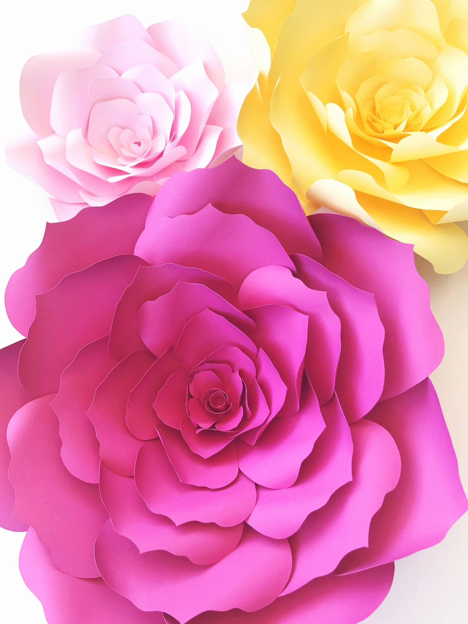 Diy Paper Flower Template New Paper Flower Templates Include Video Instructions Diy Paper