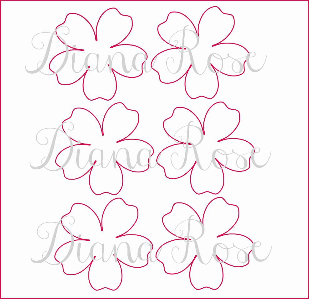 Diy Paper Flower Template New Printable Paper Rose Templates Diy Paper Flowers Printable