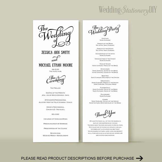 Diy Wedding Program Templates Free Beautiful Wedding Program Diy Wedding Program Templates Reception