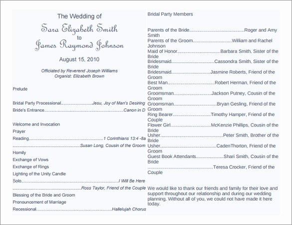 Diy Wedding Program Templates Free Best Of 8 Word Wedding Program Templates Free Download