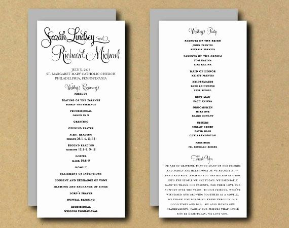 Diy Wedding Program Templates Free Elegant Sale Printable Wedding Program Template Whimsical