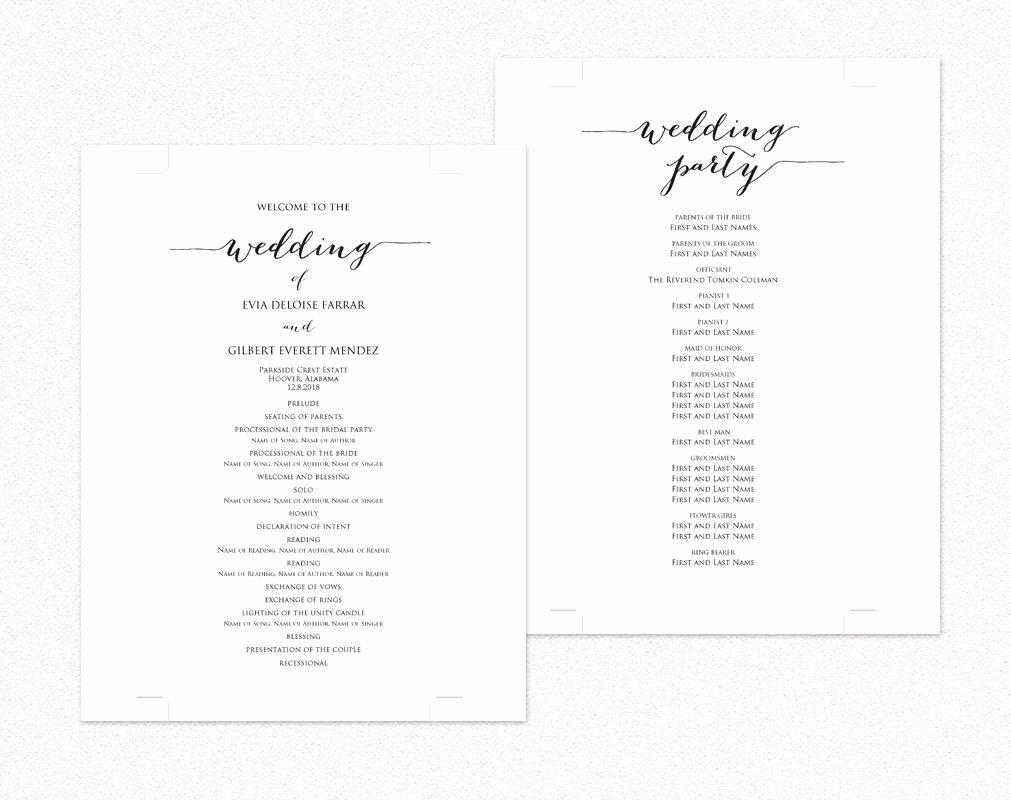 Diy Wedding Program Templates Free Inspirational Wedding Programs · Wedding Templates and Printables