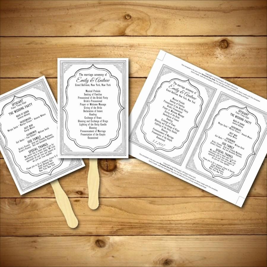 Diy Wedding Program Templates Free Lovely Wedding Program Template Printable Wedding Program Diy