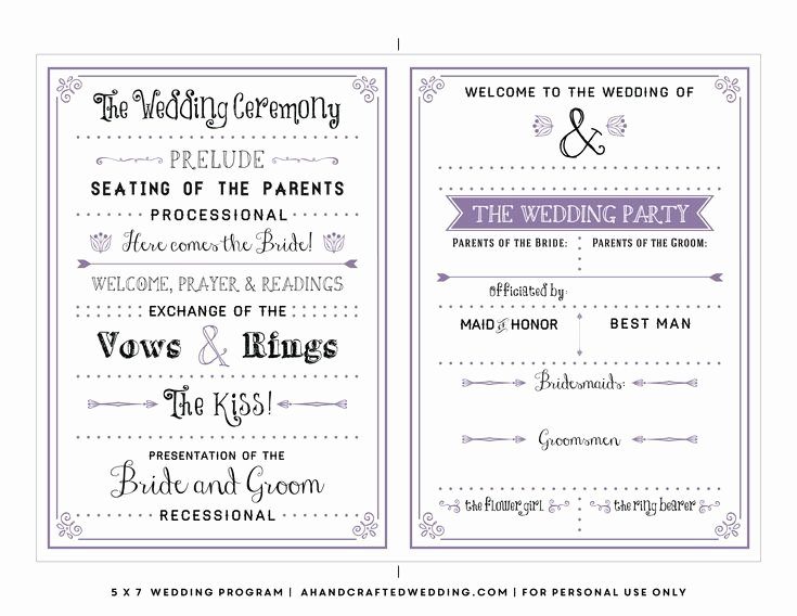 Diy Wedding Programs Templates Free Awesome Best 25 Wedding Program Templates Ideas On Pinterest