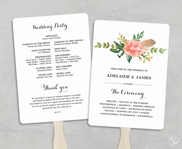 Diy Wedding Programs Templates Free Awesome Printable Wedding Program Template Fan Wedding Programs