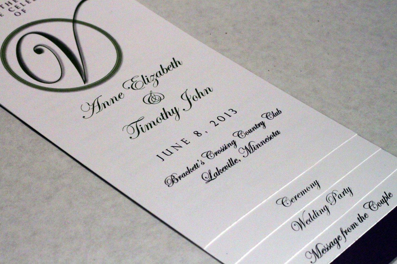 Diy Wedding Programs Templates Free Beautiful Diy 4 Page Layered Wedding Program Template Circle