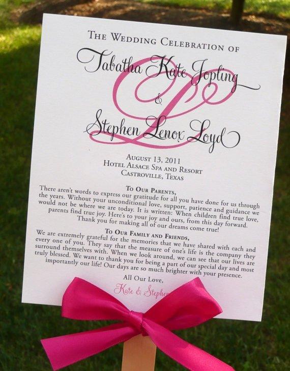 Diy Wedding Programs Templates Free Beautiful Diy Ceremony Program that Doubles as A Fan