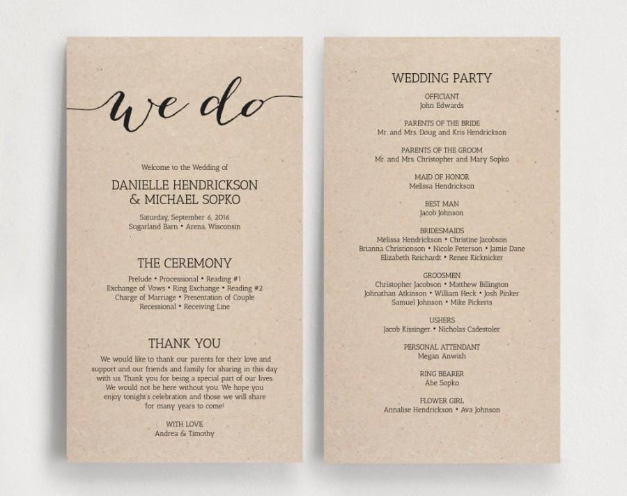 Diy Wedding Programs Templates Free Best Of Wedding Programs Printable Template Printable Program