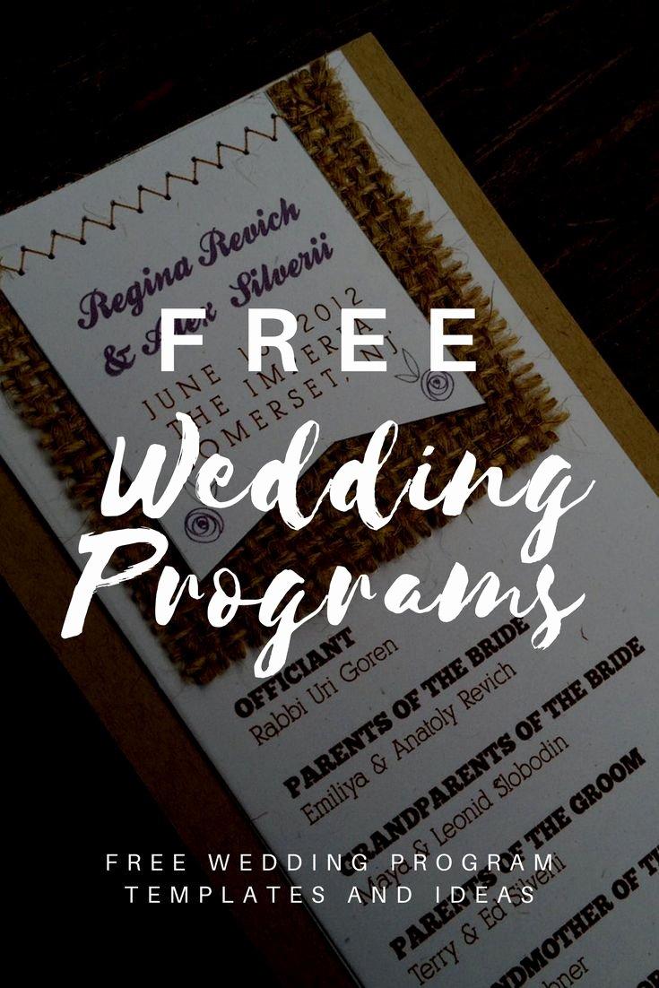 Diy Wedding Programs Templates Free Fresh Free Wedding Program Templates Wedding