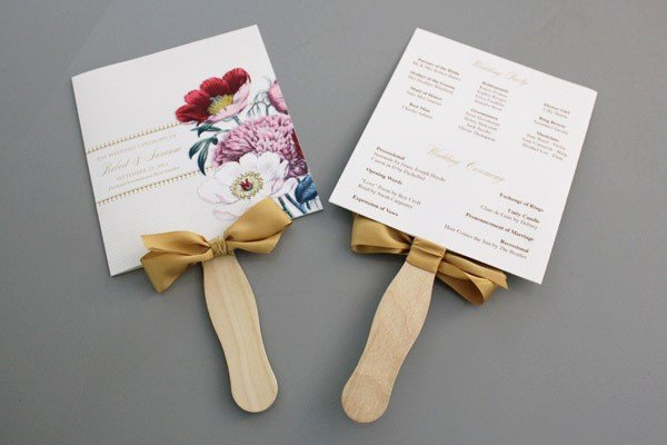 Diy Wedding Programs Templates Free Inspirational A Round Up Of Free Wedding Fan Programs B Lovely events
