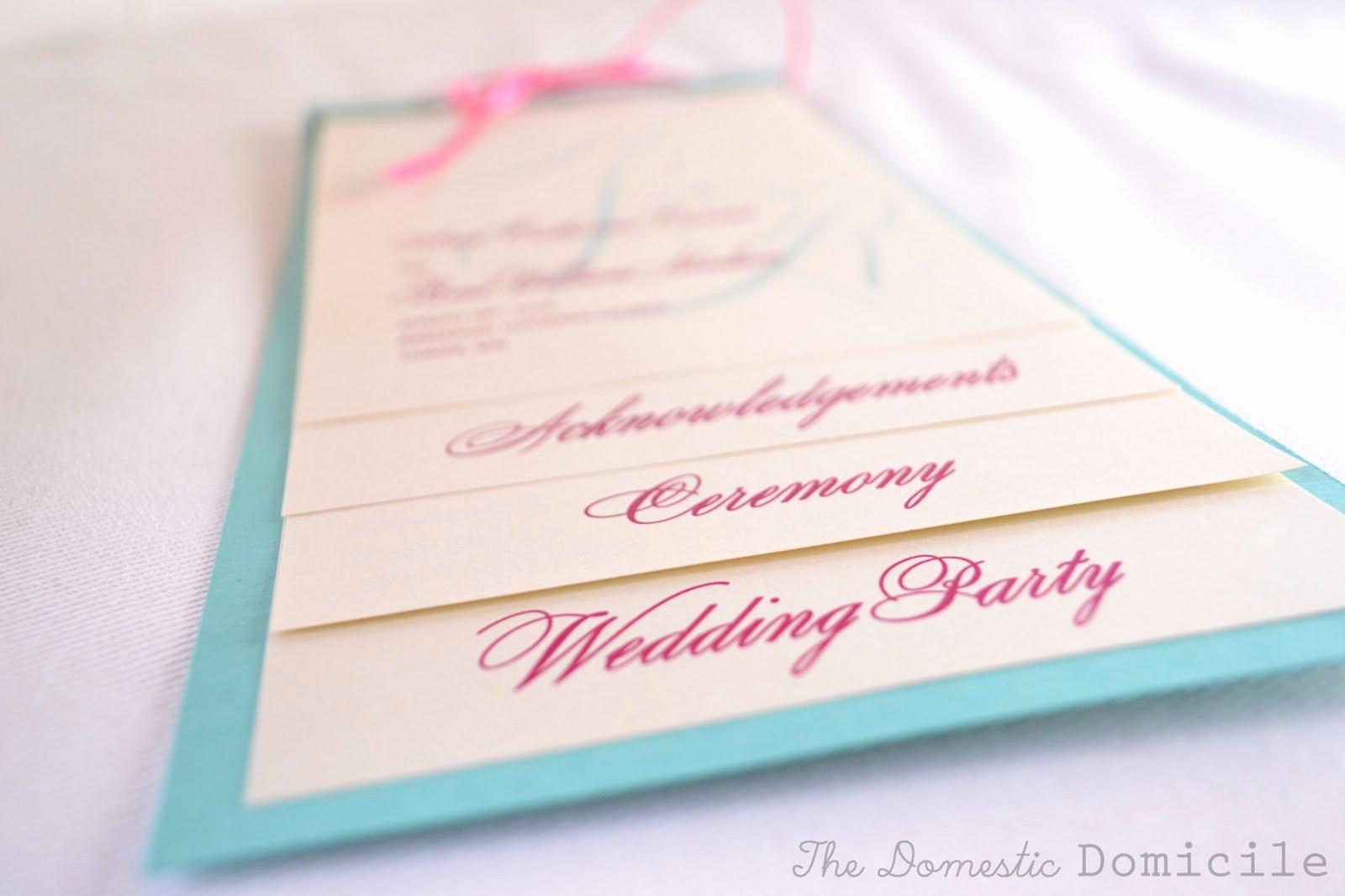 Diy Wedding Programs Templates Free Lovely Diy Wedding Revisited Program Templates the Domestic
