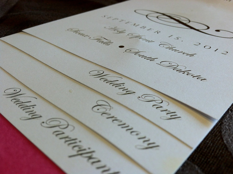 Diy Wedding Programs Templates Free New Diy 5 Page Layered Wedding Program Template Scroll Design