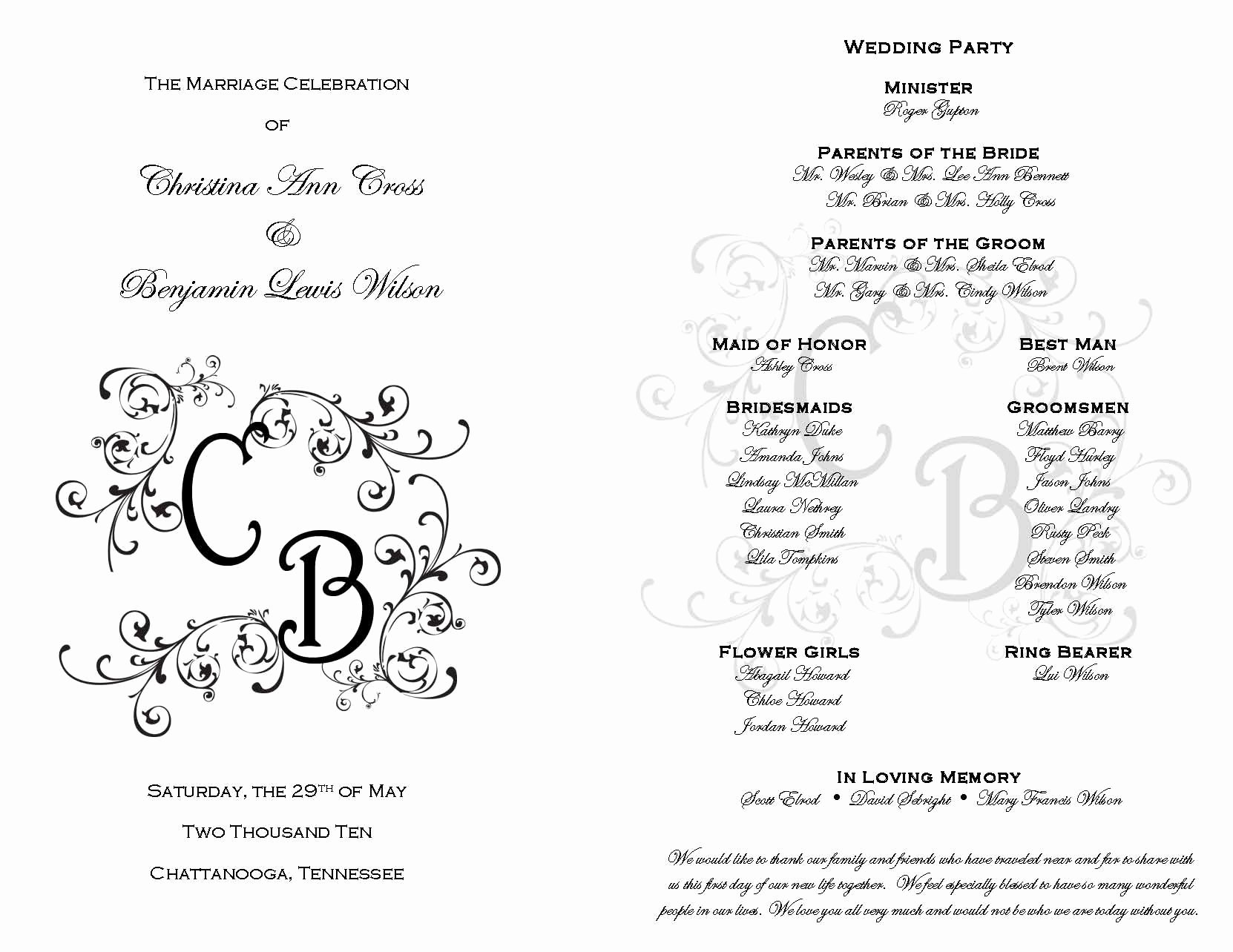 Diy Wedding Programs Templates Free Unique Printable Wedding Programs On Pinterest