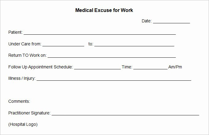 Doctors Excuse Template Free Beautiful 5 Doctor Excuse Templates Free Word Documents Download