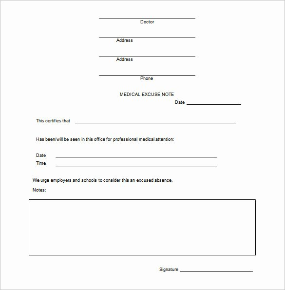 Doctors Excuse Template Free Elegant 12 Doctors Note Templates Pdf Doc