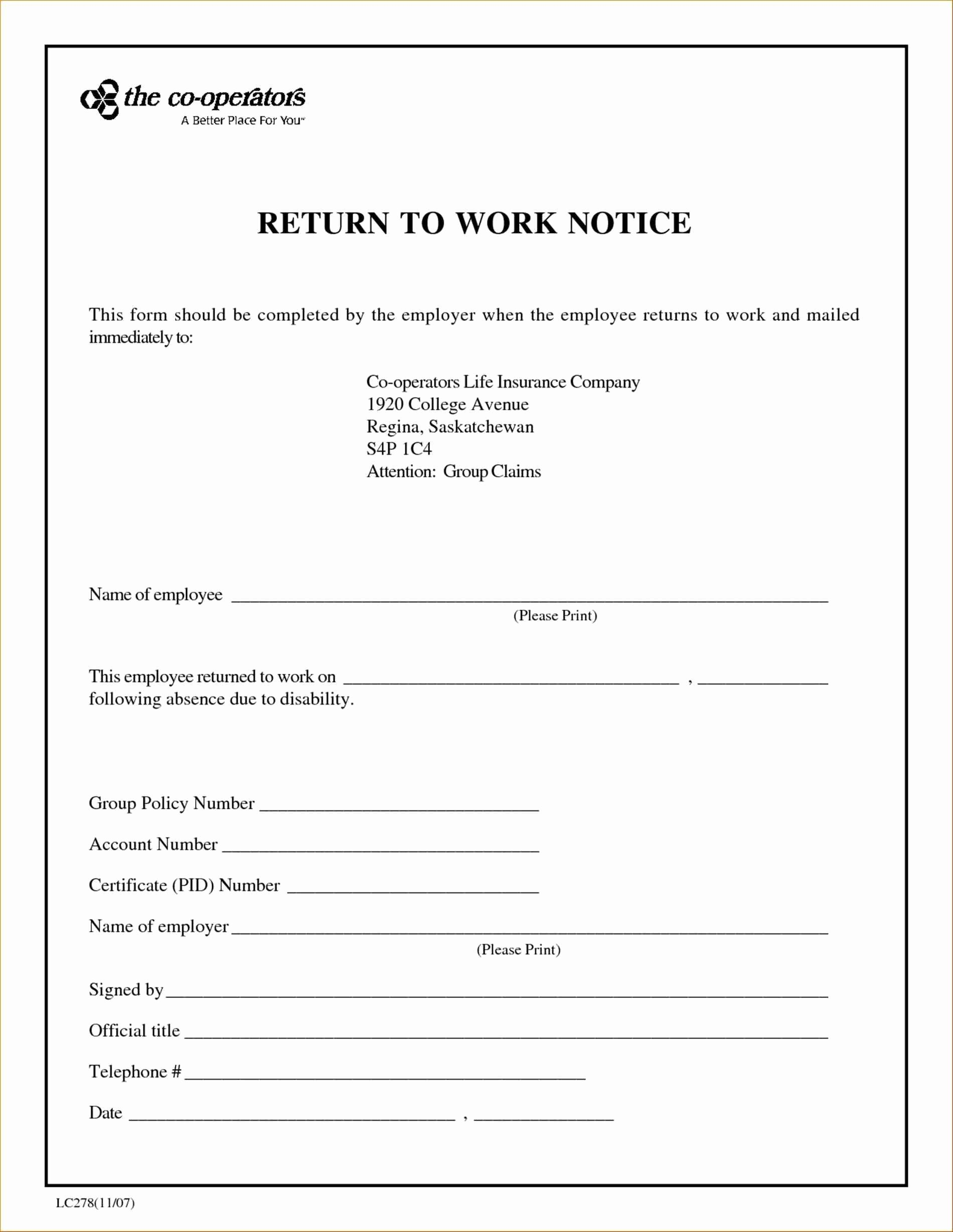 Doctors Excuse Template Free New Return to Work Doctors Note Template