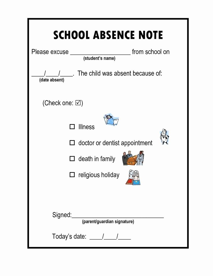 Doctors Note for School Absence Awesome 44 Best for School Images On Pinterest