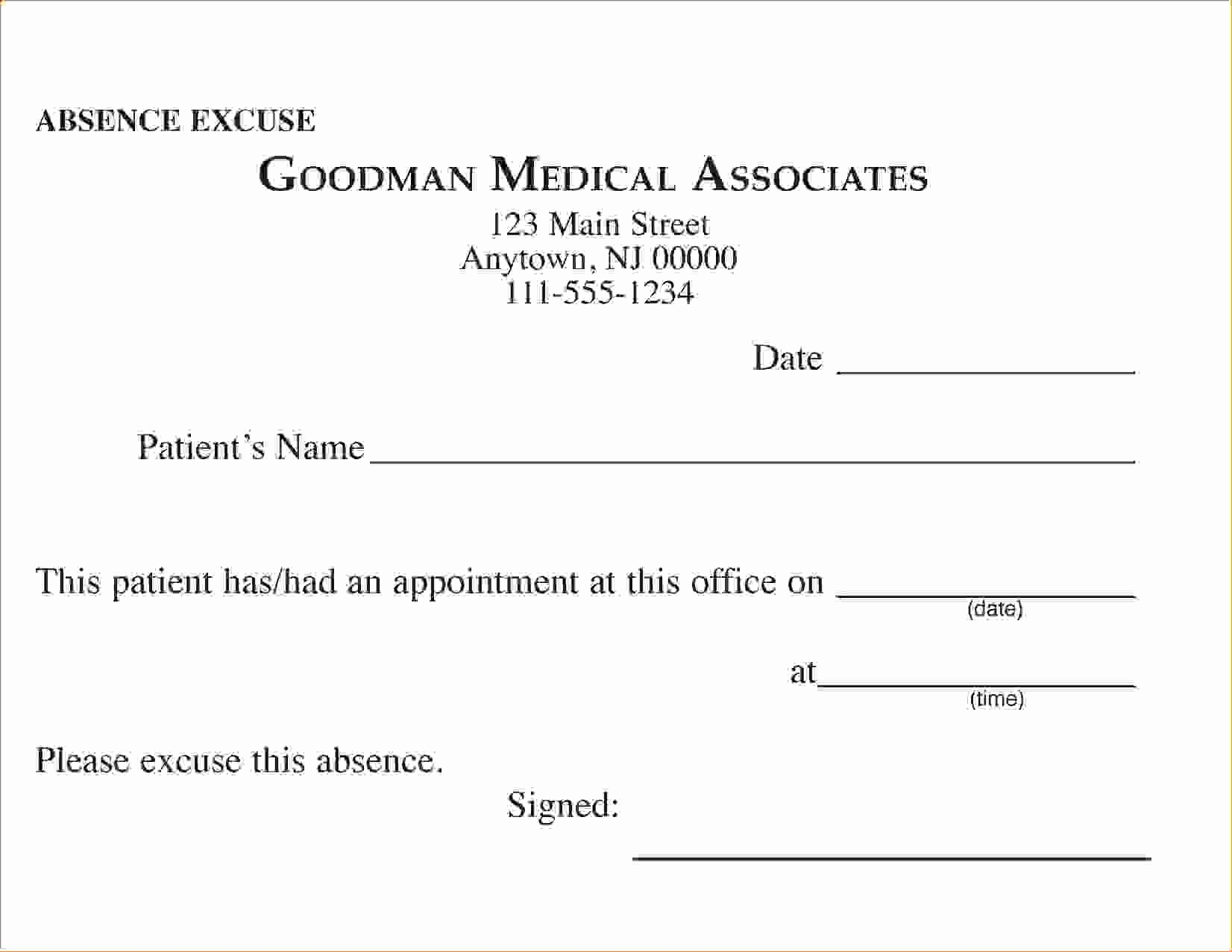 Doctors Note for School Absence Best Of 14 Doctors Note School