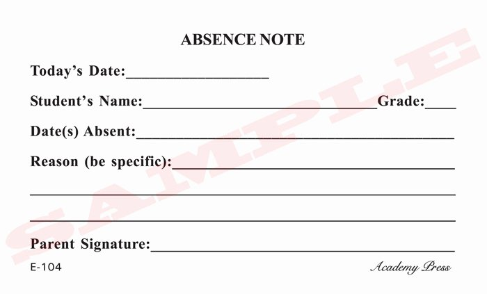 Doctors Note for School Absence Lovely 8 Best Of Printable for School Absence Excuses