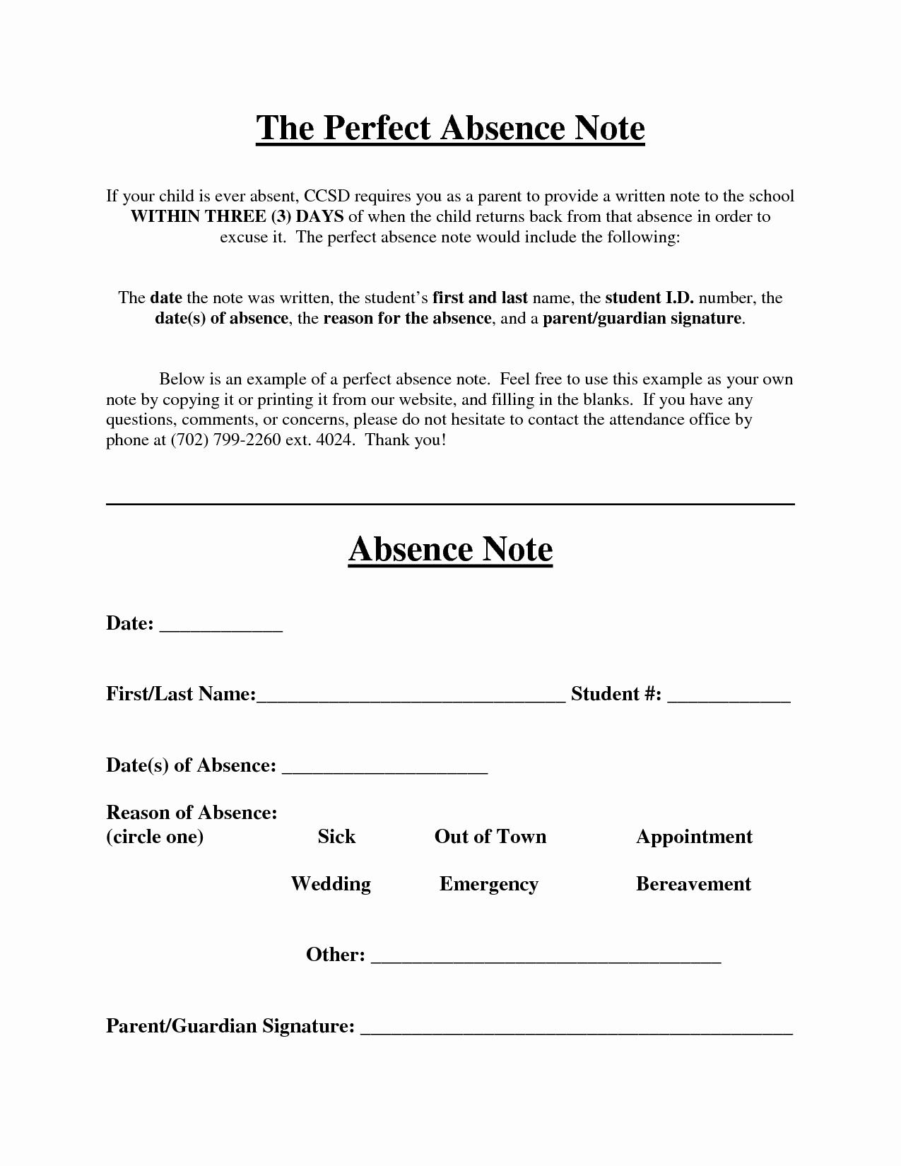 Doctors Note for School Absence Luxury Best S Of Doctors Note for School Absence Doctors