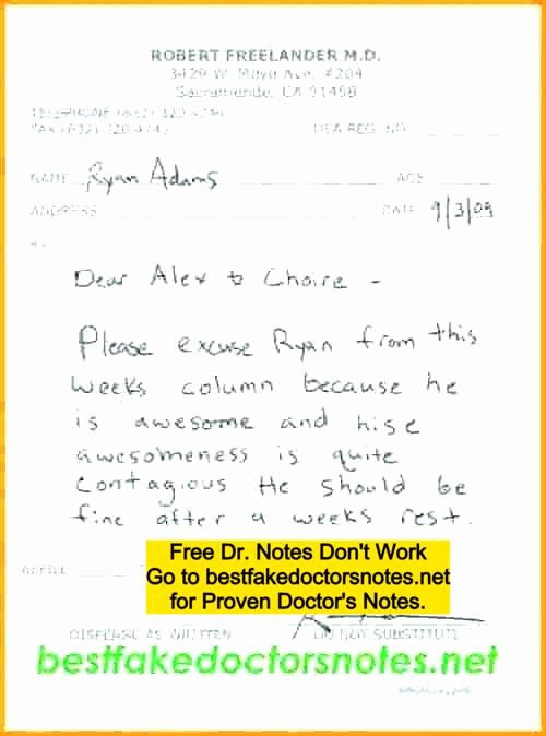 Doctors Note Print Out Luxury 4 Easy Ways to Use A Printable Fake Doctors Note