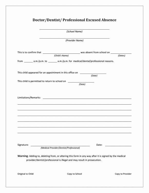 Doctors Note Print Out Unique 42 Fake Doctor S Note Templates for School & Work