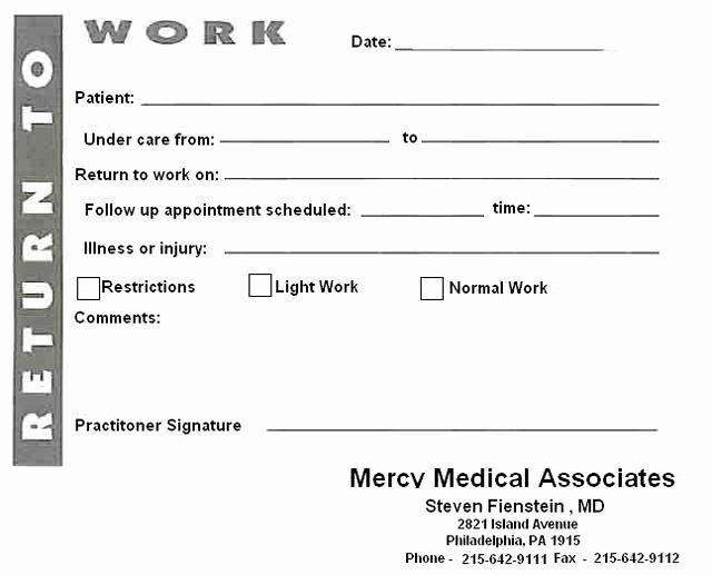 Doctors Note with Signature Best Of 8 Best Of Blank Printable Doctor Note Pdf Fake