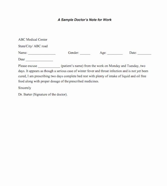 Doctors Sick Note Template Inspirational 21 Free Doctor Note Excuse Templates Template Lab