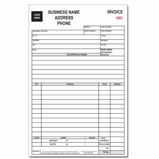 Door order form Template Awesome Custom Business forms Invoices Receipts Continuous