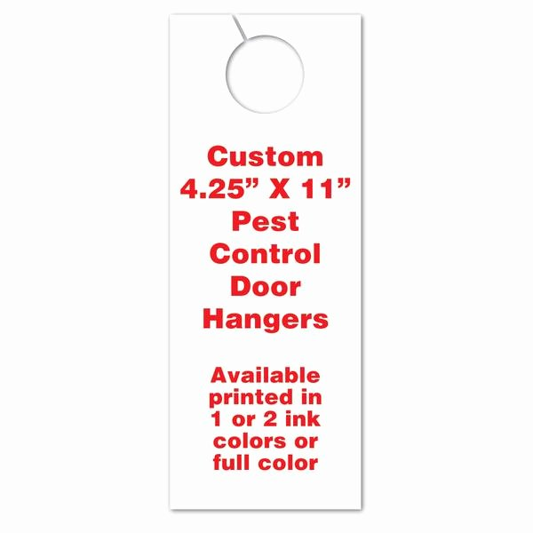 Door order form Template Beautiful Pest Control Door Hangers