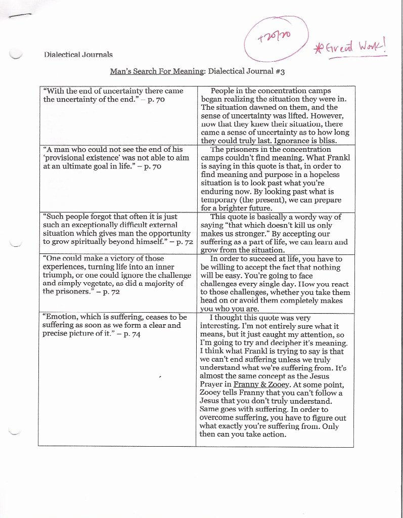Double Entry Journal Template Beautiful Dialectical Journal Template