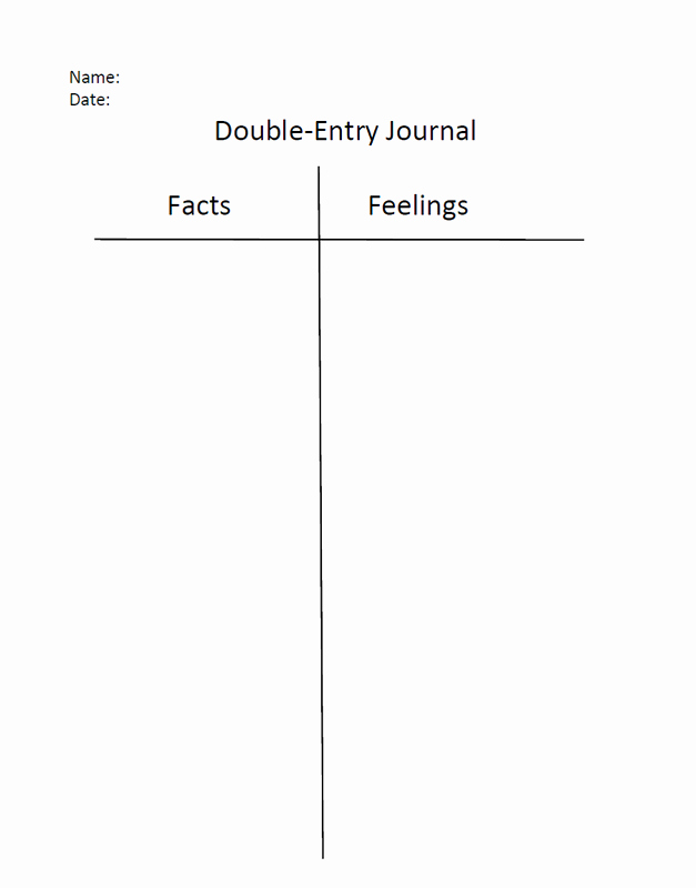 Double Entry Journal Template Luxury Picture