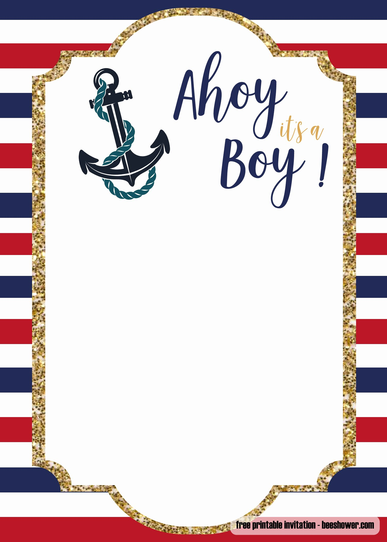 Downloadable Baby Shower Invitation Templates Best Of Free Nautical Baby Shower Invitations Templates