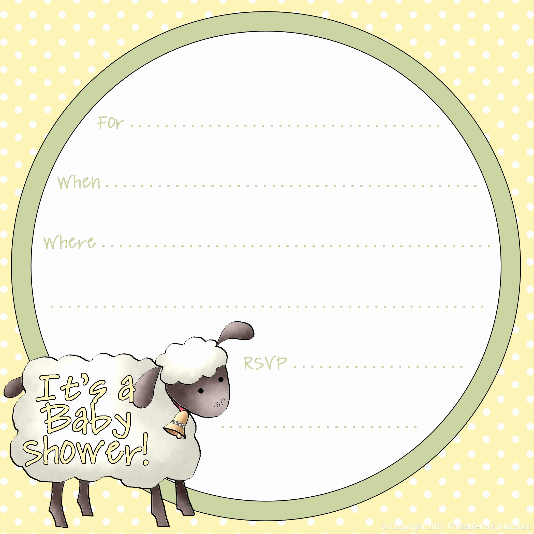 Downloadable Baby Shower Invitation Templates Inspirational Free Sheep Printables