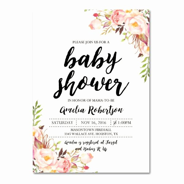 Downloadable Baby Shower Invitation Templates New Editable Pdf Baby Shower Invitation Diy – Elegant Vintage