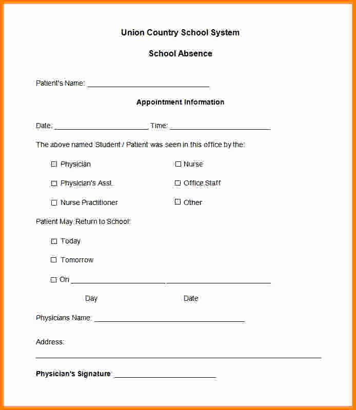 Dr Excuse for School Luxury 7 Printable Fake Doctors Notes Free