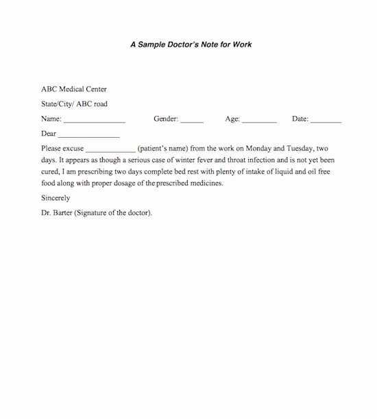 Dr Excuses for Work Best Of 27 Free Doctor Note Excuse Templates Free Template