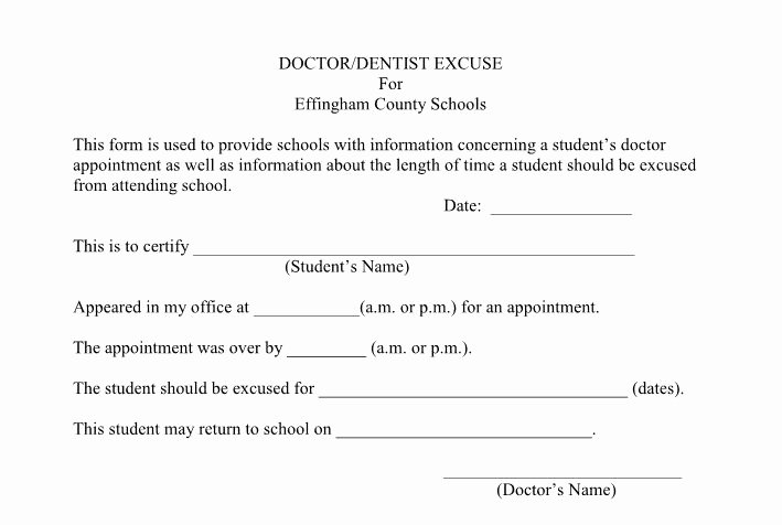 Dr Excuses for Work New 25 Free Doctor Note Excuse Templates Template Lab