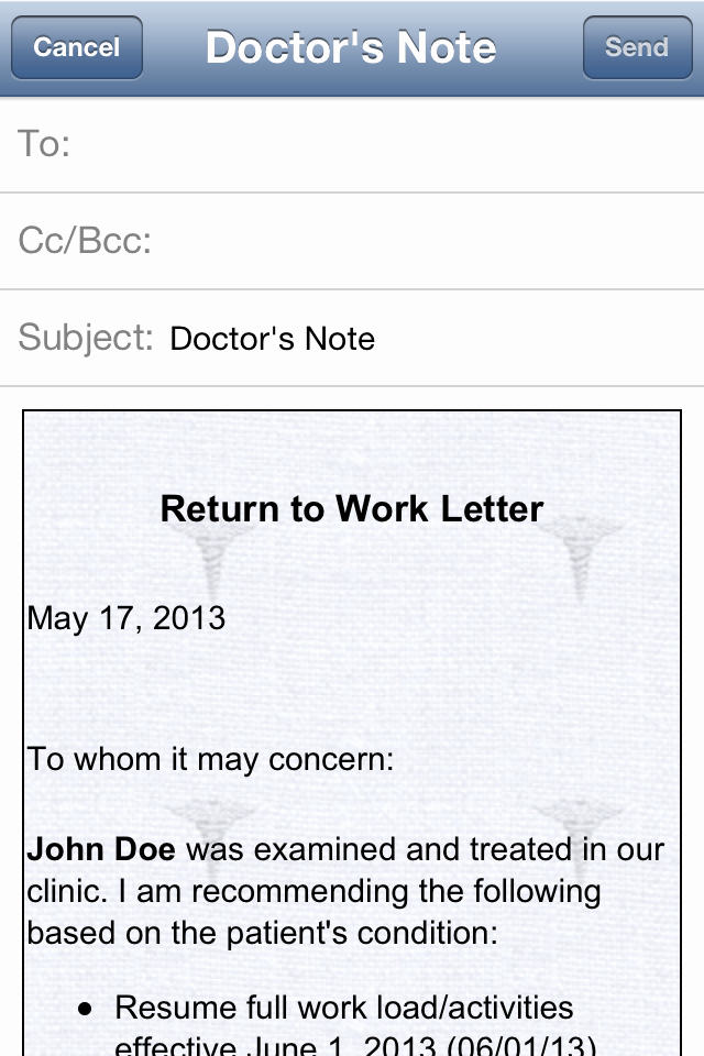 Dr Notes for School Inspirational Doctor's Note iPhone and Ipad Medical App Review