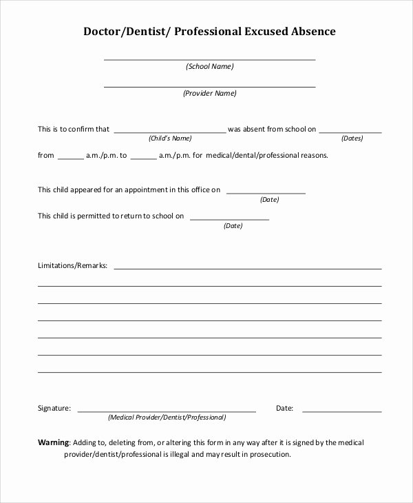 Dr Notes for School New 37 Free Doctors Note Templates